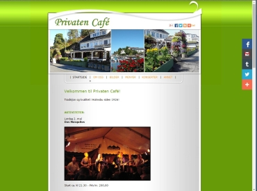 Nettside for Privaten Caf�